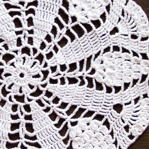 crochet centerpiece vintage geometric Doily Cotton shabby Doily,wedding rustic Table decor Rectangular white Crochet doily