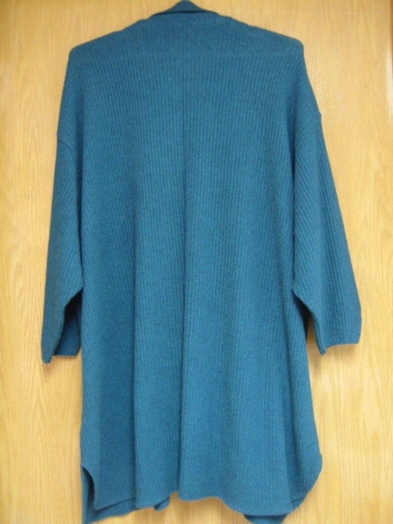 womens size 3X excellent condition never worn vintage /'Stephanie Schuster/' teal blue cardigan sweatermatching cropped pants