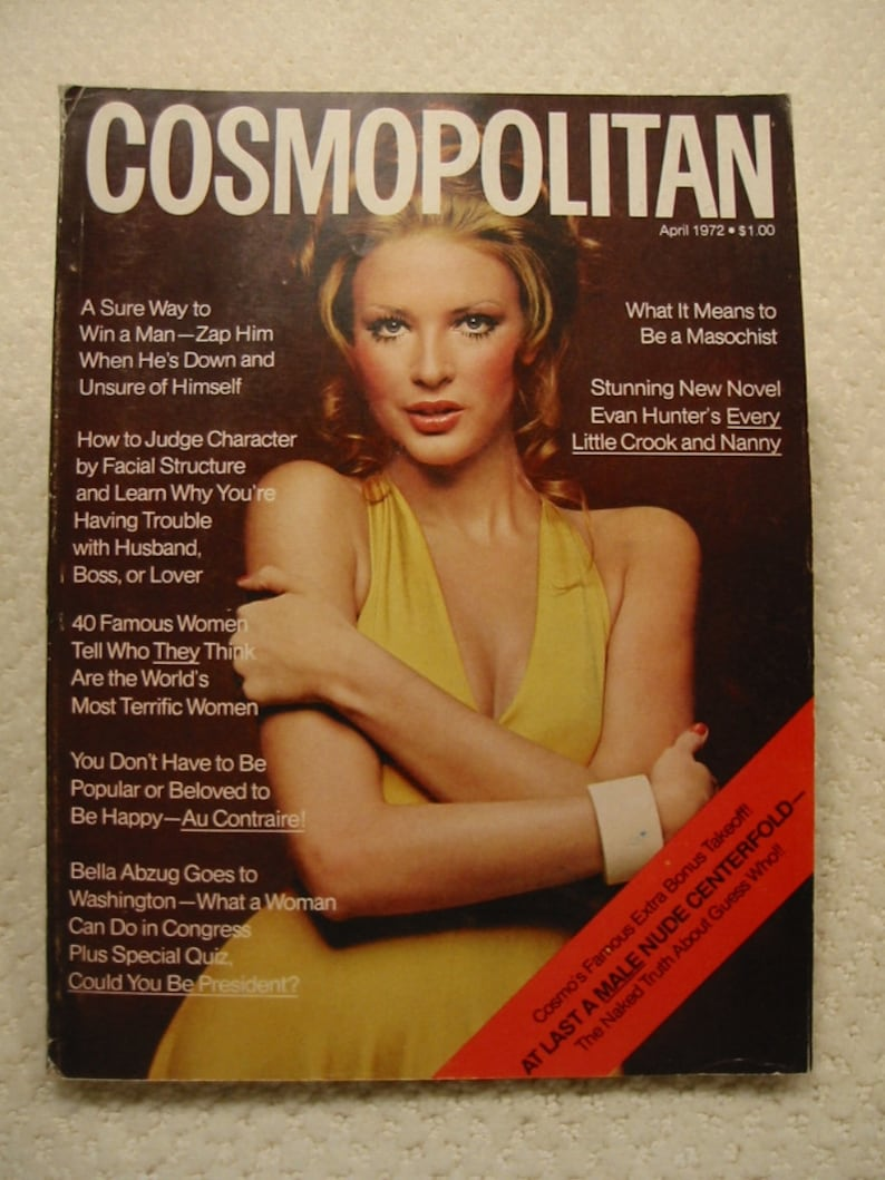 c48e64c0033 Vintage April 1972 Cosmopolitan magazine containing the Burt