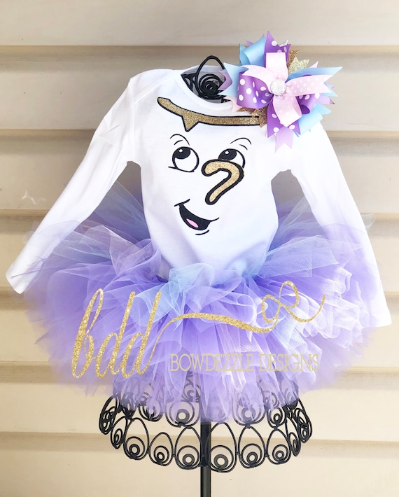 Beauty And The Beast Chip Tutu Costume Etsy