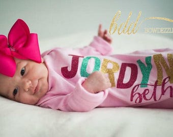 Personalized Newborn Gowns