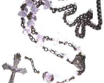 Rose Crucifix Car Rosary