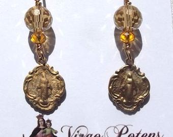 Catholic  Miraculous Medal Earrings Jewelry