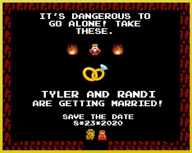 Printable Zelda Save the Date