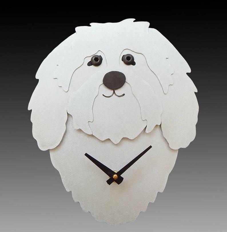 2d1f7fed5 Havanese Dog Art Havanese Dog Clock by Anita Edwards | Etsy