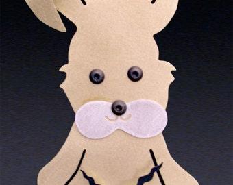 Bunny Art - Bunny Clock - Rabbit Clock - by Anita Edwards