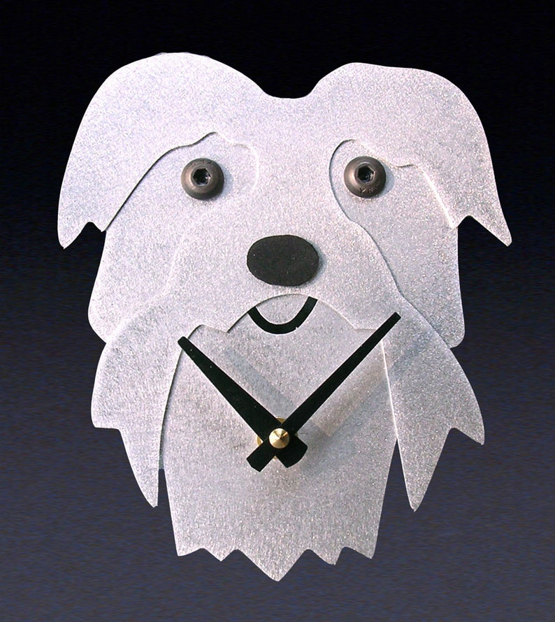 12d529ca4 Maltese Dog Art Maltese Clock by Anita Edwards | Etsy