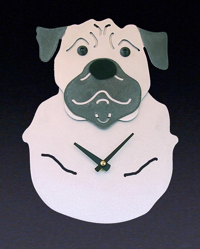 02d0a081c Pug Dog Art Pug Clock by Anita Edwards | Etsy
