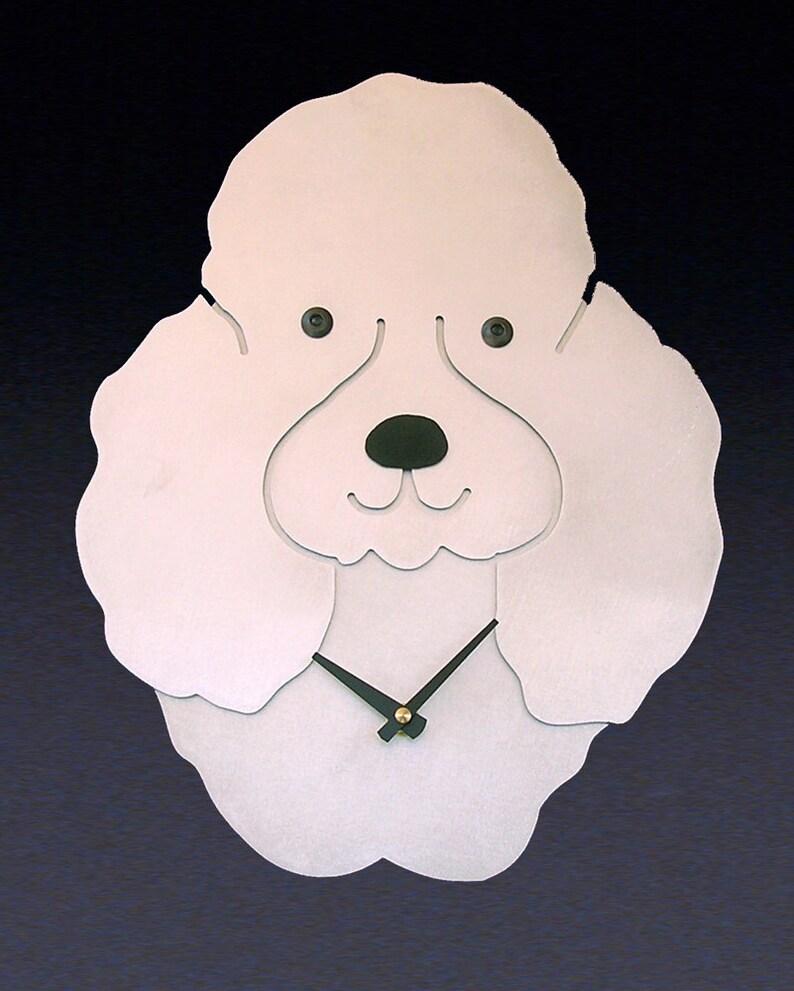 0cbab0ba8 Poodle Dog Art Poodle Clock by Anita Edwards | Etsy