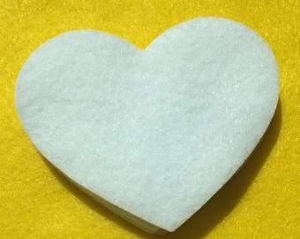 50 felt hearts - pre cut felt hearts - die cut felt hearts - felt heart - felt supplies - pre cut felt hearts - die cut felt hearts