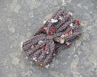 Knotted Headband - Crochet Turband - Ear Warmer - Head Dress, Winter Fashion, Hair Bands - Hair Coverings - for Women, Boho