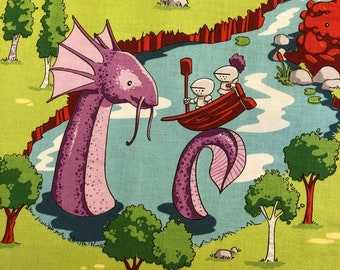 Riley Blake Dragons by Ben Byrd C7664 Gray Cobblestone Cotton Fabric