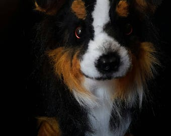 Border Collie custom made dog replica - Sheepdog - dog plush - gift for dog lover - pet memorial - stuffed animal