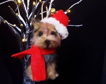 Custom made dog replica Christmas decoration - Tree Decoration - Pet Memorial - Gift for dog lover - Dog Replica - Yorkie - Dog Ornament