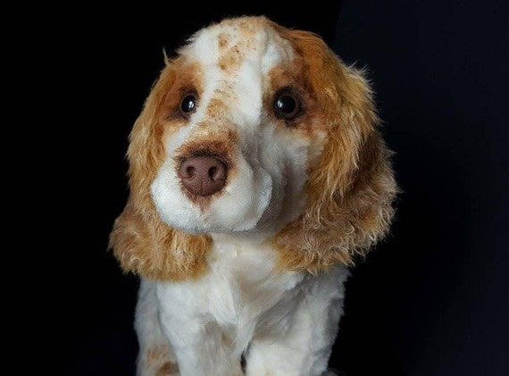 gift for dog lover custom made dog plush Cocker Spaniel portrait pet memorial Cocker Spaniel dog replica