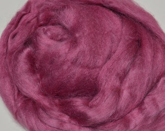 sliver felting silk fiber Tussah silk roving 4oz tops rust color spinning 1oz,2oz