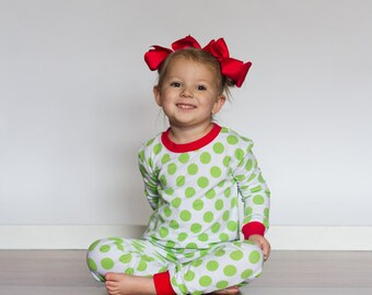 b98e2af8af77 Red Baby Doll Christmas Pajamas Match Your Baby Toddlers