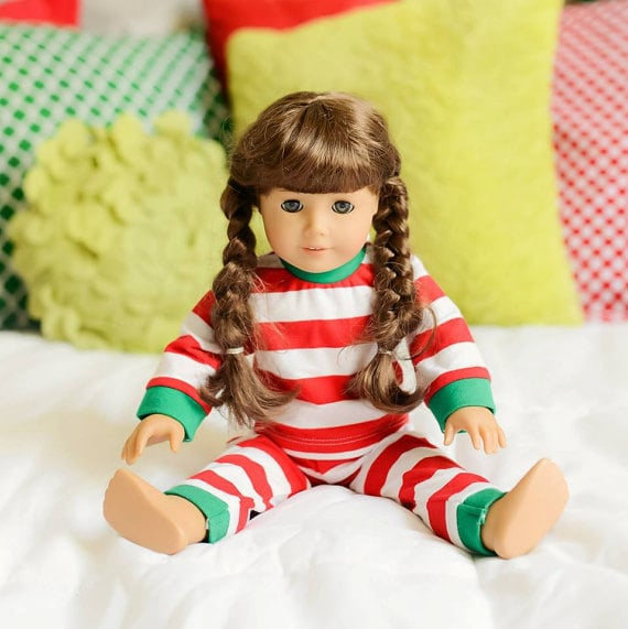 b2e55befa577 Red Baby Doll Christmas Pajamas Match Your Toddlers Pajamas