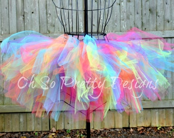 Baby, Kid, Adult, Plus Rave Rainbow Tutu, Running Tutu, Princess Marathon