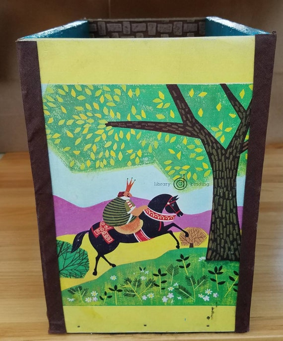 Upcycled Hans and the Golden Stirrup Book Wood Storage Box