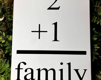 Family Flashcard Wooden Sign, Family Number Sign, Family Sign,
