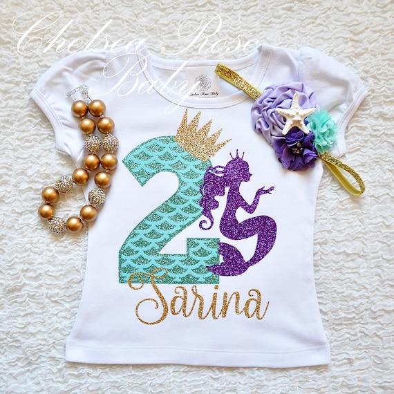 015e54d42d32 Mermaid birthday shirt girls mermaid shirt mermaid birthday image 0 ...