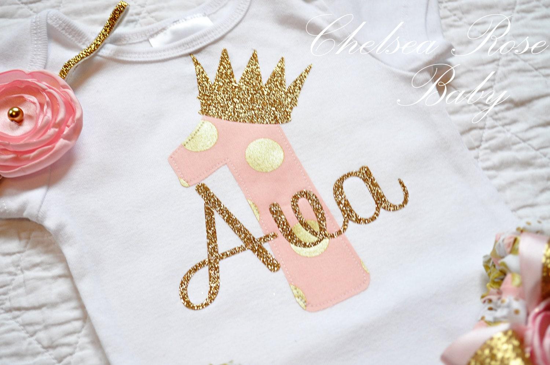 Pink And Gold Birthday Shirt Personalized Birthday Shirt
