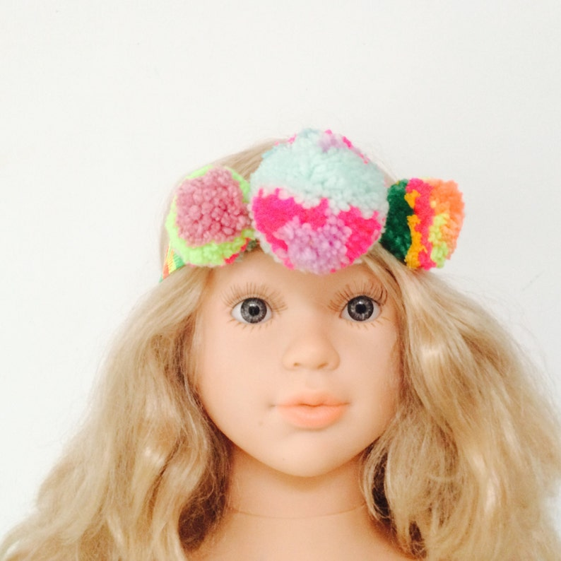 TWIRL Headband  4 Years Plus Childrens Kids Ladies Pom Pom image 0