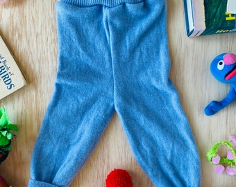 CRAWL 0-3 Months Babies Baby Trousers Pants Joggers Sweatpants in Upcycled Cashmere Unisex