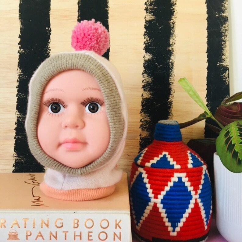 DIZZY 3-6 Months Cashmere Kids Hat Balaclava Toddler Childrens image 0