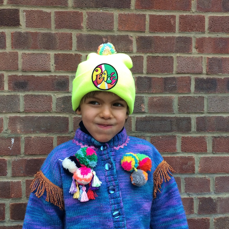 RAVE Kids Hat Childrens Cap with Pom Pom in Acrylic 1-3 Years image 0