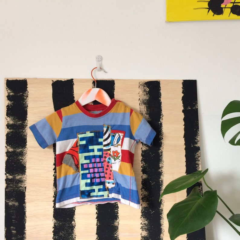COVER 3-6 Months Kids Childrens T Shirt Upcycled in cotton image 0