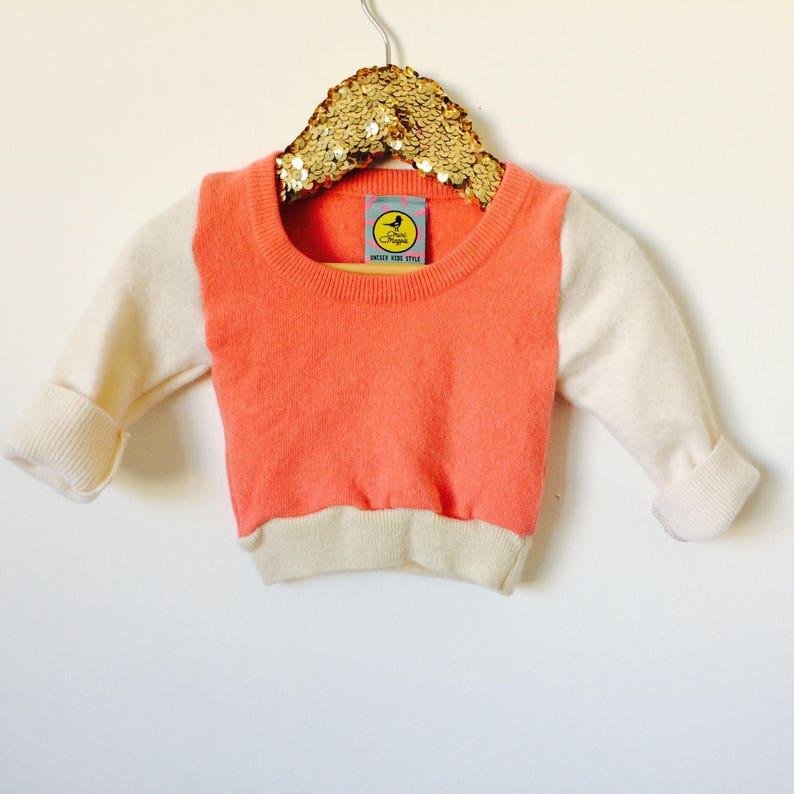 SOFTIE 3-6 Months Baby Cashmere Jumper Handmade Top Sweater image 0