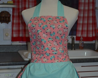 Retro Apron Womens Apron Cooking Apron with a Vintage Feel