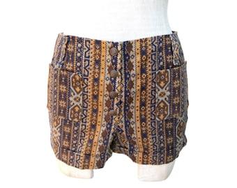 70s Tie Dye Board Shorts 70s Hippie Clothing Women/'s XSS 70s Clothing