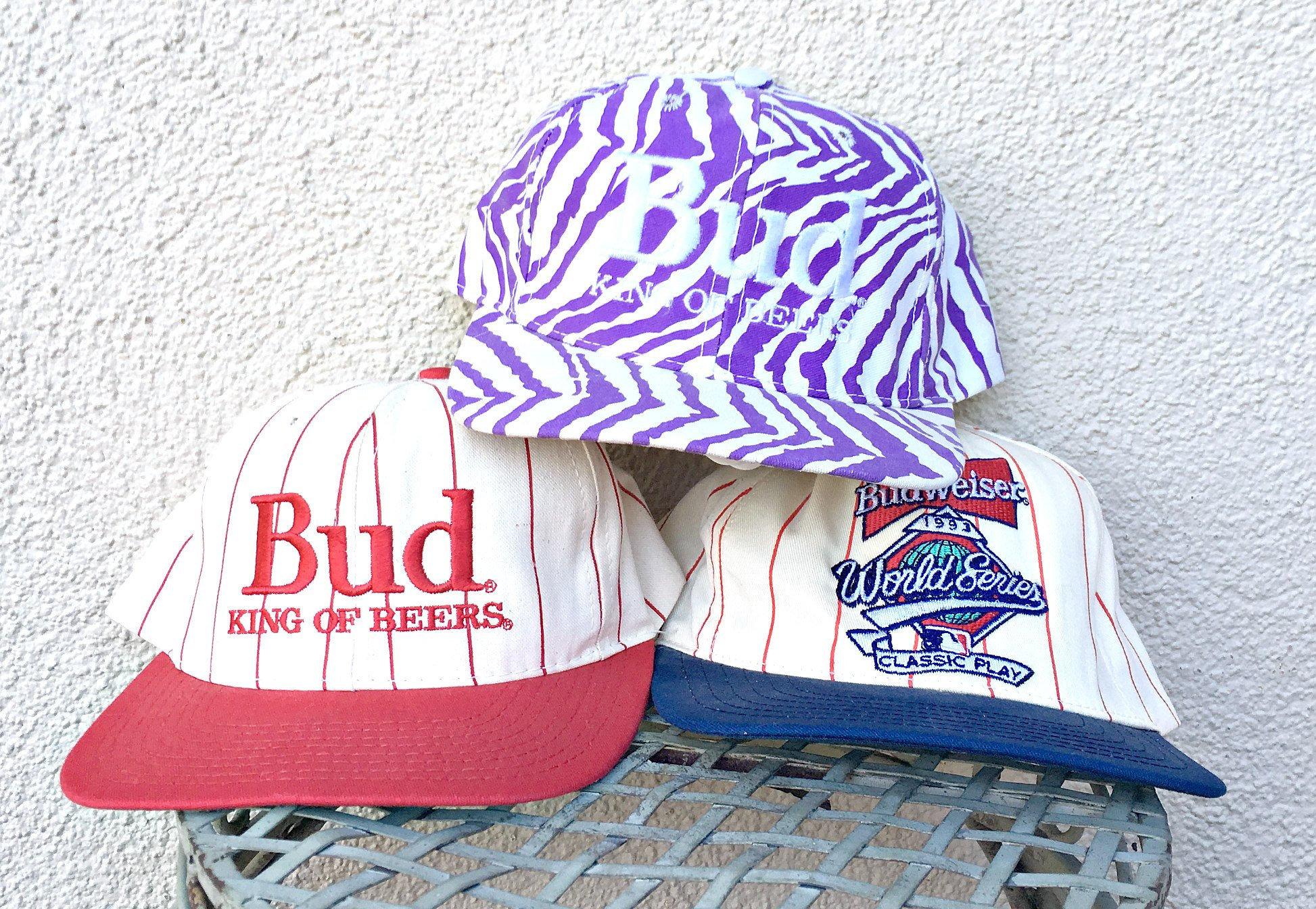 fc9b5146b9cf8 Vintage Budweiser Hat King of Beers 90 s Bud Baseball Cap
