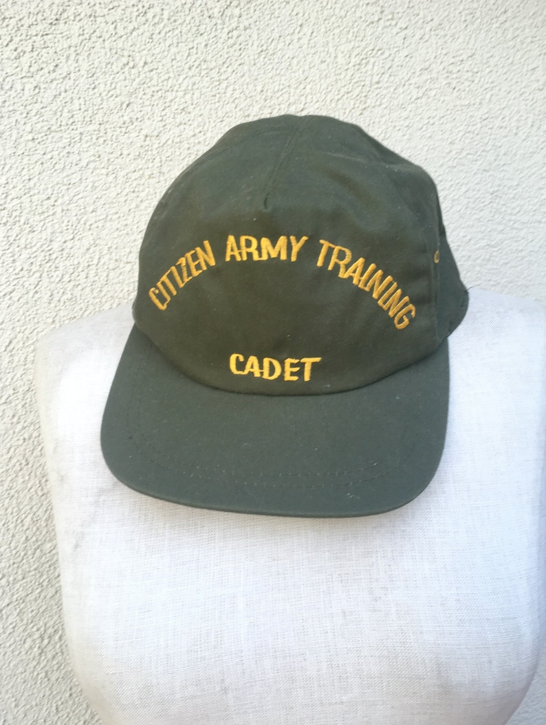 Vintage Military Cadet bat Citizen Army Training Baseball Cap in Army Green  Unisex Accessories