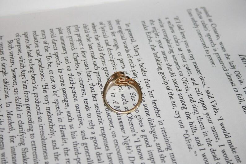 Letter C Avon Ring Initial C Gold Tone Simulated Diamond Ring Monogram C Ring Avon 1984