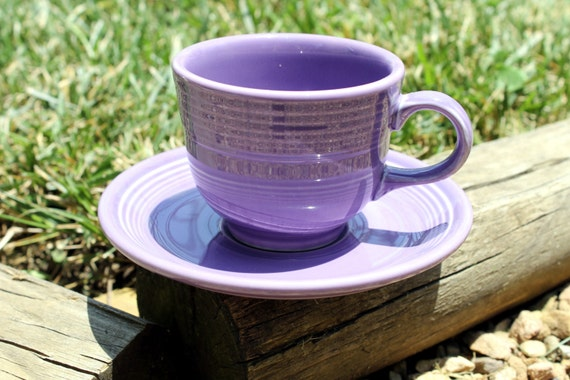 Fiestaware LILAC Teacup and Saucer Fiesta Limited Retired COLOR