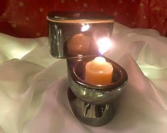 Votive Candle Toilet (Mirror)