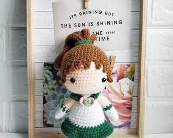 Sailor scout jupiter amigurumi doll