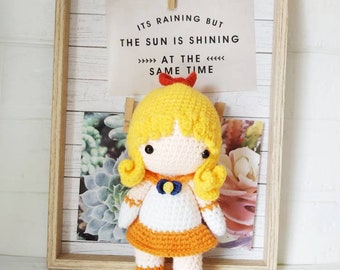 Sailor scout venus amigurumi doll