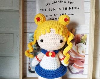 Sailor scout moon amigurumi doll