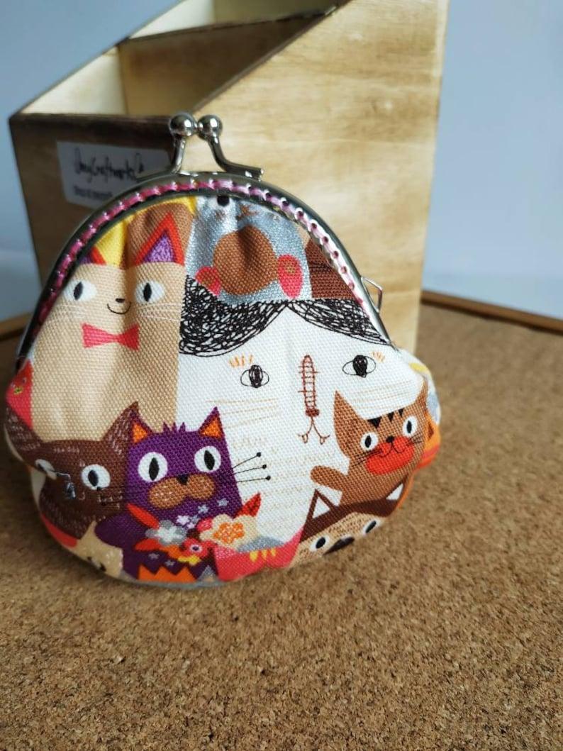 Cats clasp purse / Kisslock pouch image 0