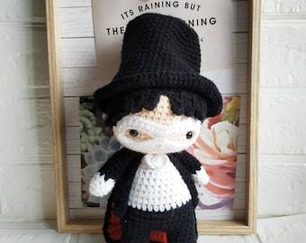 Sailor scout tuxedo amigurumi doll