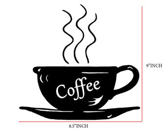Kitchen Wall Decal Coffee Cup Decal kitchen Wall decal  -home decor- wall decal- kitchen decor