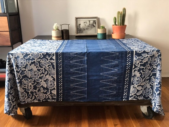 Tremendous Ornate Indigo Batik From Middle Java Onthecornerstone Fun Painted Chair Ideas Images Onthecornerstoneorg