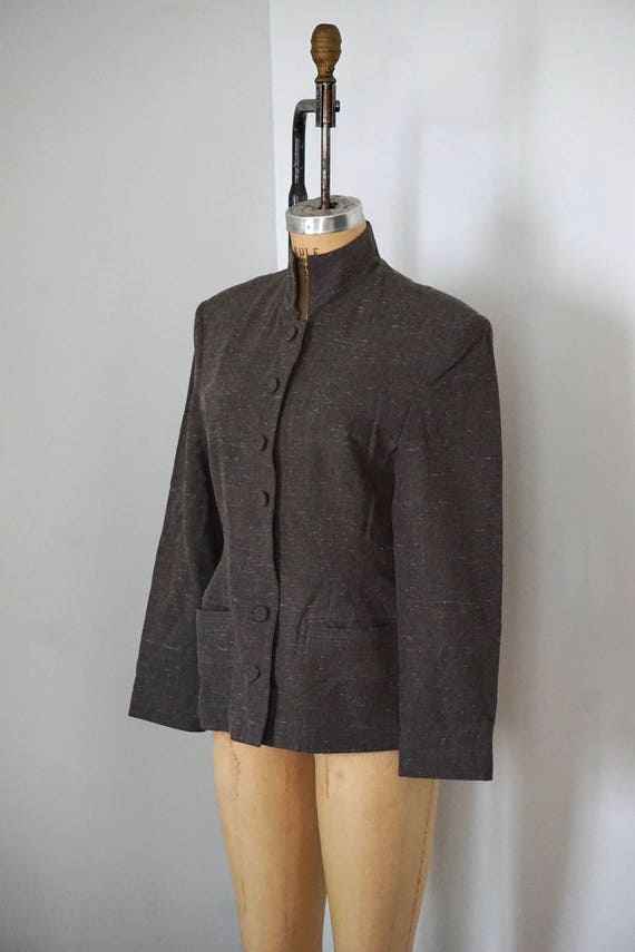 Grey Grey Wool Blazer Blazer speckled speckled Wool qrf4rt6w
