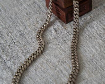 Vintage silver braided necklace