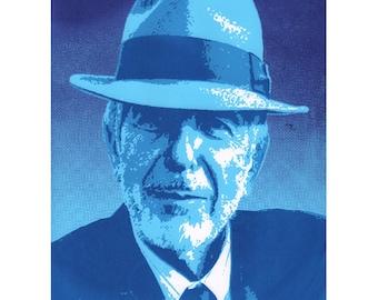 Leonard Cohen: Una edición limitada serigrafía